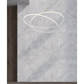SIKREA Glem 60 /B 2376 Lampadario Moderno LED Bianco