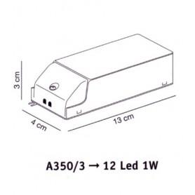 Elesi Luce Led'Eco A350/3 Alimentatore per faretti Led'Eco 12x1w