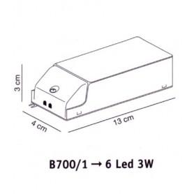 Elesi Luce Led'Eco B700/1 Alimentatore per faretti Led'Eco 6x3w