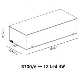 Elesi Luce Led'Eco B700/6 Alimentatore per faretti Led'Eco 12x3w