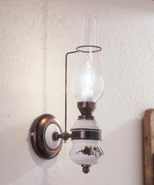 Ferroluce Pompei C560 Lampada Parete Rustica 1 Luce