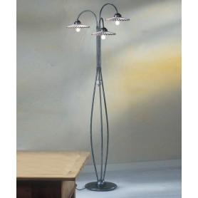 Ferroluce L'Aquila C200/3 TE Lampada Terra Ceramica 3 Luci