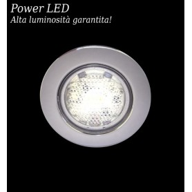 Ale. Lux-2 Faretto Incasso 2 Power LED Cromo