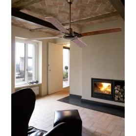 Faro Malvinas 33111 Ventilatore da Soffitto senza Luce Marrone