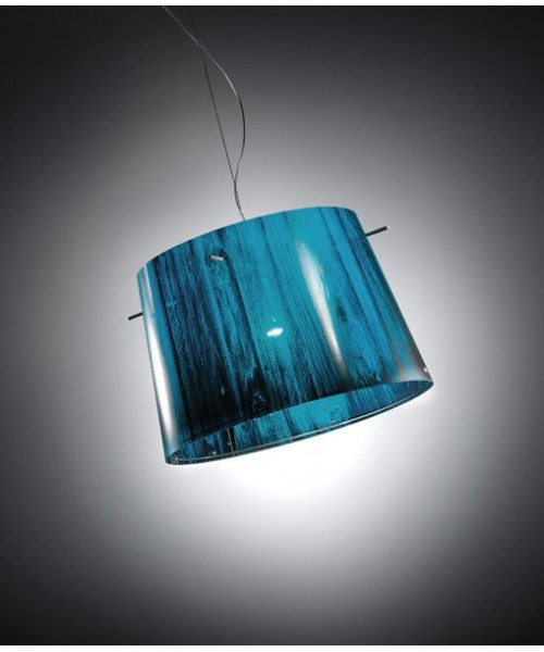 Slamp Woody Sunspension Blue Lampadario 1 Luce R.E