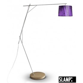 Slamp Woody Floor Lamp Purple Lampada Terra 1 Luce