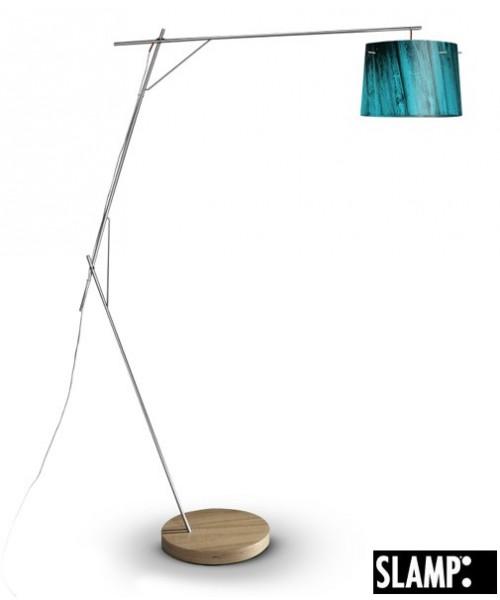 Slamp Woody Floor Lamp Blue Lampada Terra 1 Luce