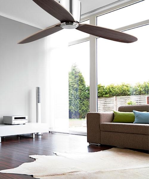 Faro Nias 33472 Ventilatore da Soffitto senza Luce Nichel