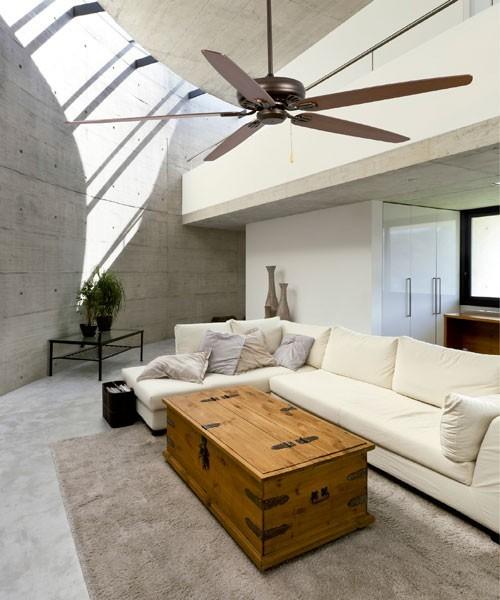 Faro Nisos 33363 Ventilatore da Soffitto senza Luce Marrone
