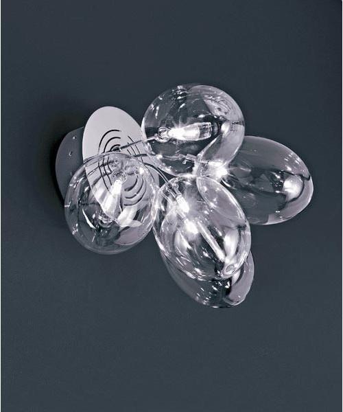 De Majo Pro-Secco A5 Lampada Parete 5 Luci Cristallo