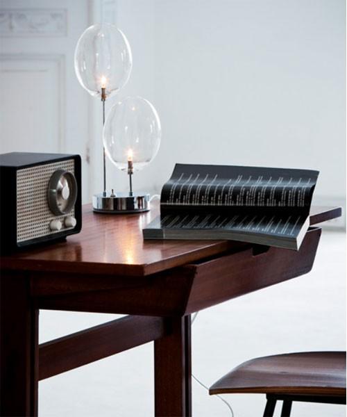 De Majo Pro-Secco T2 Lampada Tavolo 2 Luci Cristallo