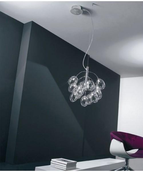 De Majo Pro-Secco S13D Lampadario 13 Luci Cristallo