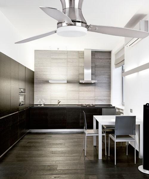 Faro Tonsay 33385 Ventilatore da Soffitto con Luce Nichel