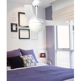 Faro Easy 33415 Ventilatore da Soffitto Luci R.E Bianco