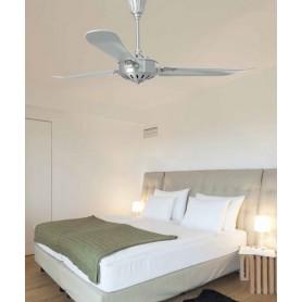 Faro Aoba 33366 Ventilatore da Soffitto Senza Luce Nichel