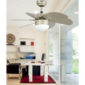 Faro Palao 33186 Ventilatore da Soffitto con Luce 6 Pale
