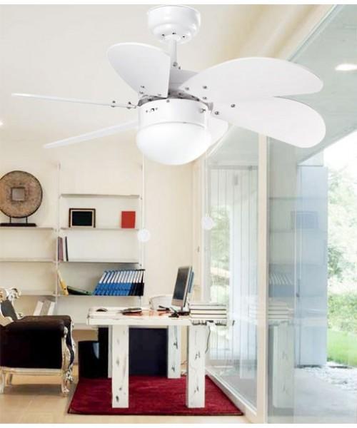 Faro Palao 33180 Ventilatore da Soffitto 6 Pale Bianco