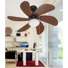 Faro Palao 33185 Ventilatore da Soffitto con Luce Marrone