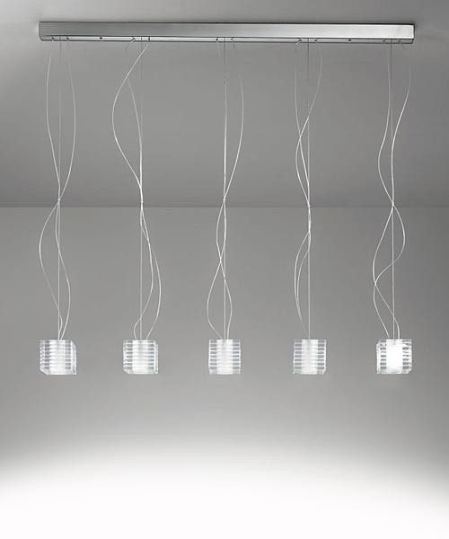 De Majo Otto x Otto S3L Lampada Sospensione 3 Luci Cristallo