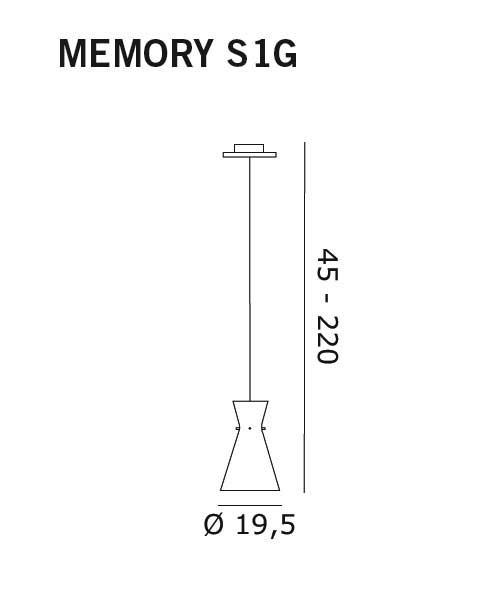 De Majo Memory S1G Lampada Sospensione Cristallo