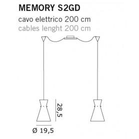 De Majo Memory S2GD Lampada Sospensione Cristallo