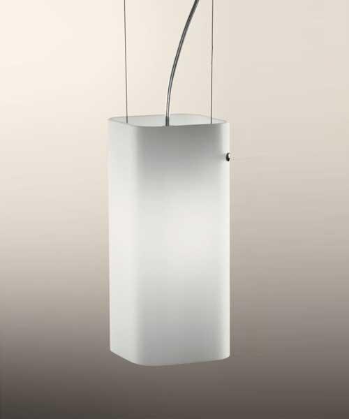 De Majo Carrè S1P Lampada Sospensione Bianco Satinato 1 Luce