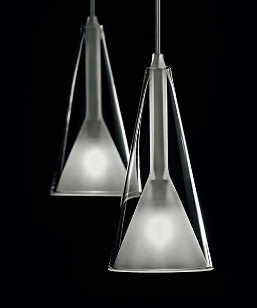 De Majo Lolli S2D Lampada Sospensione 2 Luci Cristallo