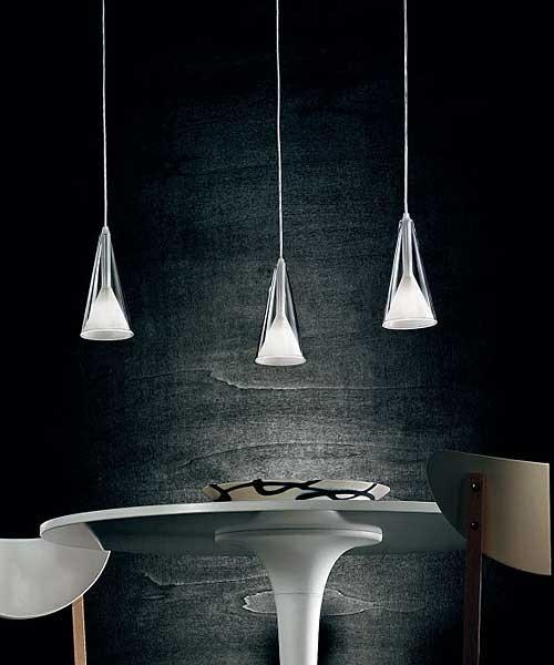De Majo Lolli S3D Lampada Sospensione 3 Luci Cristallo