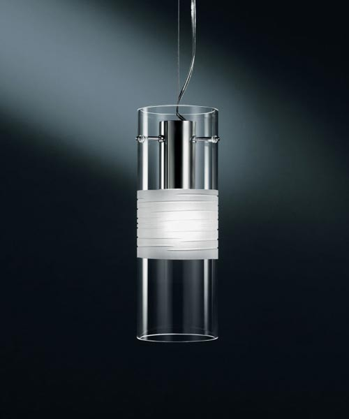 De Majo Xilo S10 Lampada Sospensione 1 Luce Cristallo