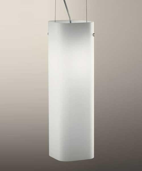 De Majo Carrè S1G Lampada Sospensione Bianco Satinato 1 Luce