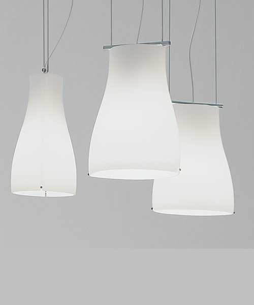 De Majo Bell S1D Lampada Sospensione Bianco Satinato 1 Luce