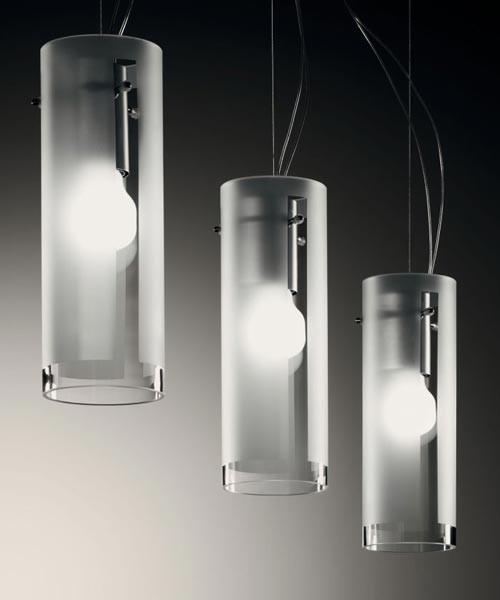 De Majo Xilo S10D2 Lampada Sospensione 2 Luci Cristallo