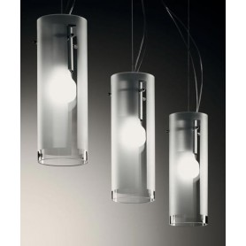De Majo Xilo S10D3 Lampada Sospensione 3 Luci Cristallo