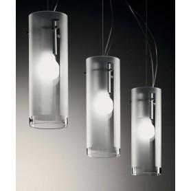 De Majo Xilo S10L Lampada Sospensione 3 Luci Cristallo