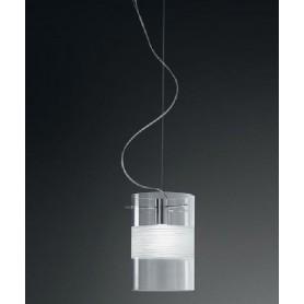 De Majo Xilo S20 Lampada Sospensione 1 Luce Cristallo