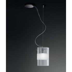 De Majo Xilo S20D Lampada Sospensione 1 Luce Cristallo