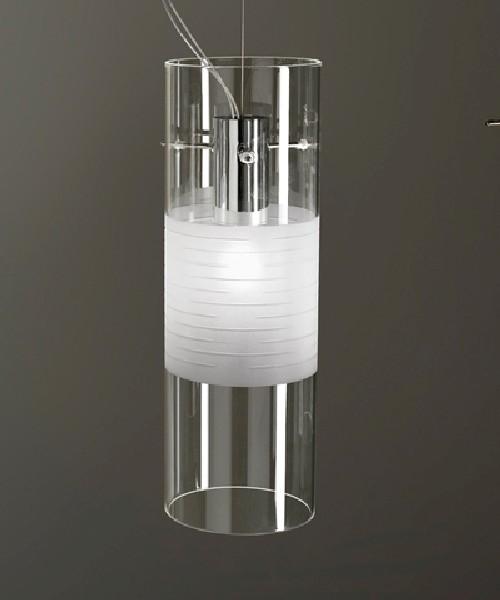 De Majo XXilo S1D Lampada Sospensione 1 Luce Cristallo
