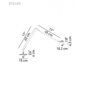 Luceplan Berenice D12 LED Lampada Tavolo