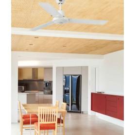 Faro Eco Indus 33005 Ventilatore da Soffitto Senza Luce Bianco
