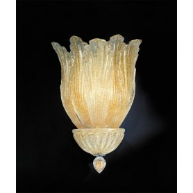 AV Mazzega Impero 7005/I Lampada Parete Vetro Murano