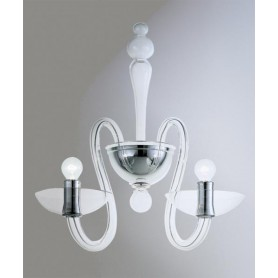 AV Mazzega Medusa 9001/02 Lampada Parete Vetro Murano 2 Luci