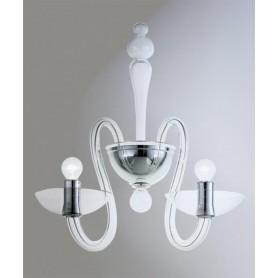 AV Mazzega Medusa 9001/03 Lampada Parete Vetro Murano 3 Luci