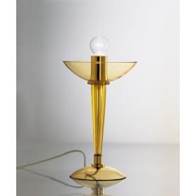 AV Mazzega Ninfea 9002/T1 Lampada Tavolo Vetro Murano