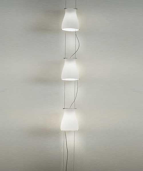 De Majo Bell S3V Lampada Sospensione Verticale 3 Luci