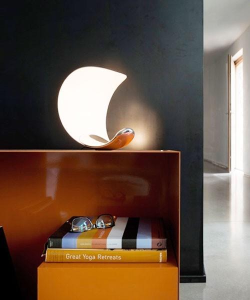 Luceplan Curl LED Lampada Tavolo con Dimmer