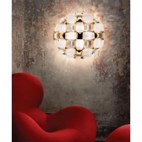 SLAMP Mida White/Gold Lampada Moderna da Soffitto Bianco/oro