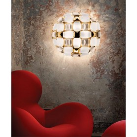 SLAMP Mida White/Gold Modern Ceiling Lamp