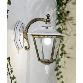 Ferroluce Gorizia C386 AP Lampada Parete Ceramica Esterno