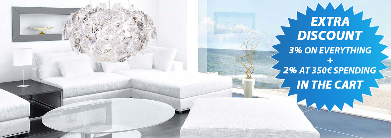 Online sale of lamps for indoor and outdoor lighting